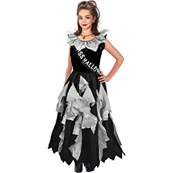368859043a7bdc Bristol Novelty CC179 Zombie Prom Queen Costume, Approx Age 11-13 Years
