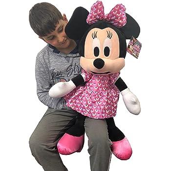 Minnie Mouse Disney Gigante Peluche 70cm Rosso Cuore Bambini Ragazzi Adulti