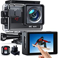 AC820 Action cam 4K 50FPS WiFi 170° Weitwinkel Aktionkameras Wasserdicht 40M Unterwasserkamera 20MP Ultra Full HD Sport…