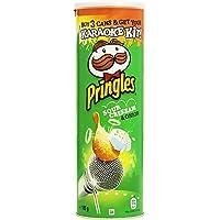 Pringles - Snack Salato, Al Gusto di Panna Acida e Cipolla , Pacco da 3 x 165 g