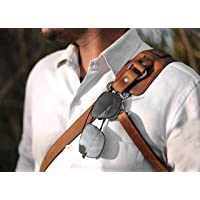 Ledereign India Leather Solo Camera Strap Now with Snap Shackle Hooks   Perfect for Single Camera   Cross Body Design…