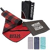 BEARFOOT Mikrofaser Handtuch Set mit Tasche | schnelltrocknende Handtücher - Microfaser Fitnesshandtuch, Sporthandtuch, Badet