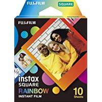 Fujifilm Instax Square Rainbow, Film Pellicola Istantanea, Formato Quadrato, 62x62 mm, Confezione da 10 Foto
