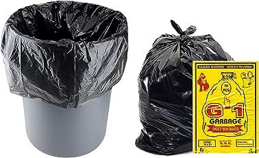 G-1 150 Pcs - 19X21 Garbage Bags Medium Size Black Disposable Trash Waste Dustbin Bags Of 54Cm X 48Cm
