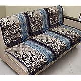 Griiham Premium Contemporary Leaves Design Sofa Cover for 5 Seater Sofa - (3+1+1) 90% Cotton 10% Polyster AT16