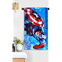 Sassoon Marvel (Official Merchandise) Avengers CA Microfiber Printed Bath Towel for Kids Boy/Girls - Size Small