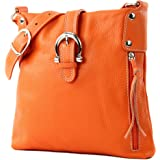 modamoda de - ital Umhänge- / Leather Shoulder Bag T04
