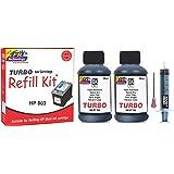 TURBO Ink Cartridge Refill Kit for HP 803  Black   120ML  2x60ML