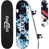 DISUPPO Cruiser Skateboard, Skateboard Completo per Principianti, 7 Strati Acero Doppio Calcio concavo Standard e Tricks…
