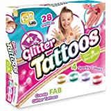 FabLab Glitter Tattoos Set with tattoo glitters for ages 8+
