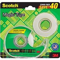 Scotch Magic Tape - The Original Matte-Finish Invisible Tape by 3M, Super Saver Pack - 2 Rolls (Width 1.9cm Length 25.4m…