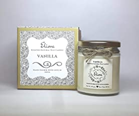 Eliora Vanilla Scented Blended Natural Wax Candle(Ivory, Eliora03)