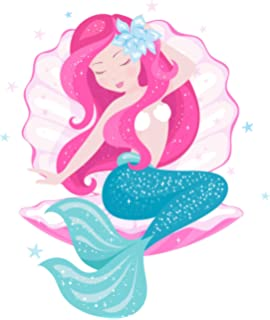 Meerjungfrau Glitzer Aufkleber Sticker Wandtattoo Wandsticker Mermaid Mädchen