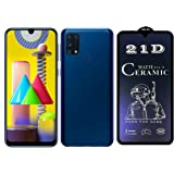 For Samsung Galaxy M31 21d Ceramic Matt Nano Cover Ag Soft Anti-fingerprint Blue Screen Protector