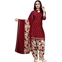 Pisara Women's Crepe Printed Unstitched Dress Material