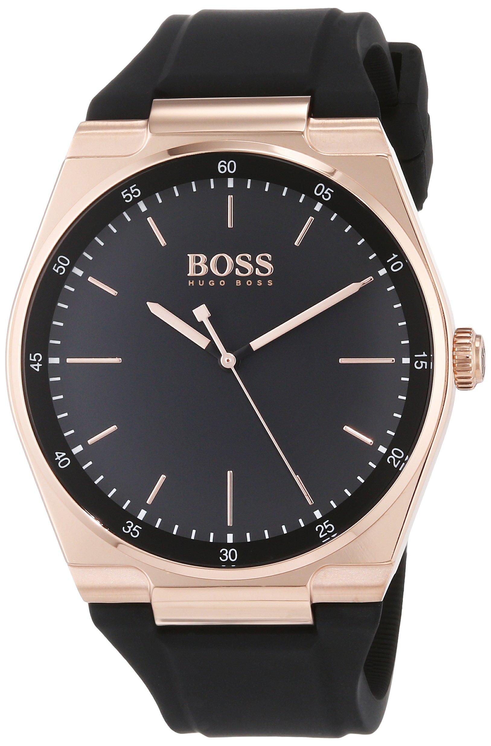 Hugo BOSS Reloj Analógico para Hombre de Cuarzo con Correa en Silicona 1513566