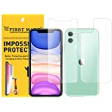 FIRST MART - A BRAND WORTH REMEMBERING Front and Back Tempered Glass Screen Protecotor for iPhone 11 - Crystal Clear Impossib