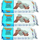 Jovi European Air-Dry Modeling White Clay 3 Packets - Each Pack of 250 Grams for Sculpting Pottery Art & Craft…