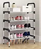 MemeHo® Shoe Rack Organizer/Metal Standing Shoe Rack/Shoe Cabinet Stand/Shoe case for Home Furniture (Color_Black, 4…