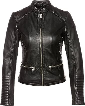 299,90 € Tigha Damen Biker Lederjacke Schwarz Sheep Leather  Größe L UVP