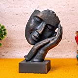TIED RIBBONS Polyresin Human Face Showpiece Sculpture Figurine for Home Living Room Decoration - Statue Decoration Items for
