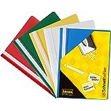 Idena 307007 - Carpetas (A4, plástico, 10 unidades, 5 colores, 2 de cada color), color azul, verde, rojo, blanco y amarillo