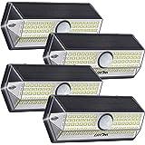 Luz Solar Exterior【Súper Brillante 4 Modos】con Sensor de Movimiento, LITOM Focos LED Exterior, IP67 Impermeable 100LEDs Luces