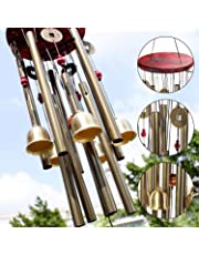 Craft Expertise Wooden and Metal Wind Chime Pipe and Bell | Good Sound | Multi Color