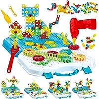 Gvoo Mosaique Enfant Puzzle 3D, 503 Pcs Jeux de Construction avec Perceuse Electrique, Puzzle Enfant Jeu Bricolage Jouet…