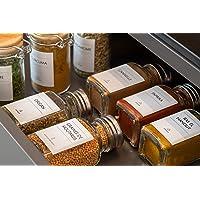 Avery - Pochette de 48 Étiquettes pour Bocaux à Épices Prêtes à L'Emploi, Minimalistes, Format Rectangulaire 3,7cm x 4…