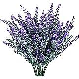 YGSAT 4 Flores Artificiales|Lavanda Artificial |Flores Artificiales de Lavanda|5 Cabezas de Flores Artificiales|Ramo de Flore