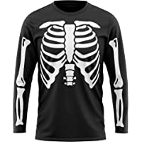 Purple Print House Skeleton T Shirt for Men Women Kids, Halloween Costumes, Fancy Dress, Long Sleeve Party Outfit…