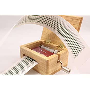 Schaepers Kaleidoskope Spieluhr / mit Lochstreifen / zum Selbstkomponieren / aus Holz