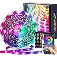 LED-strip Muzieksynchronisatie Kleurveranderende 5050 RGB LED-strips Afstandsbediening met 44 toetsen, Lngebouwde microfoon,