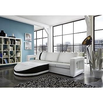 SAM® Sofa Garnitur weiß Doccia schwarzer Streifen 200 x 270 cm links ...