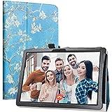 """Labanema Tablet Coque avec MatrixPad Z4, Slim Fit Cuir PU étui Housse Fin et Pliable Coque pour 10.1"""" Vankyo MatrixPad Z4 10 inch/MatrixPad Z4 Pro Tablette - Almond Blossom"""