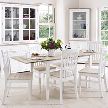 Florence large rectangular extended table. Stunning kitchen dining table  with limed hardwood top. Sits 6. Table ONLY. Matching chairs are also  available. 7d4bbb3afd04