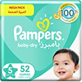 Pampers Baby-Dry, Size 5, Junior, 11-18 kg, Jumbo Pack, 52 Diapers