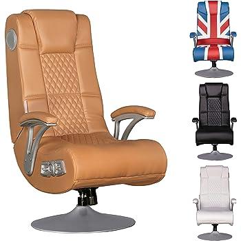 finebuy soundchair spencer gaming chair caramel multimediasessel musik rocker mit eingebautem. Black Bedroom Furniture Sets. Home Design Ideas