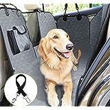 Pecute Funda Perros Coche, Funda de Asiento para Perros Impermeable y Resistente, Protector Coche Perros con Rejilla Flexible