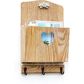 schl sselbrett briefablage 40x30x10 cm schl sselkasten organizer postablage landhaus holz. Black Bedroom Furniture Sets. Home Design Ideas