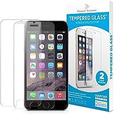Power Theory iPhone 6/6s Schutzfolie (2 Stück) - Japanisches 9H Panzerglas/Panzerglasfolie, HD Displayschutzfolie/Panzerfolie, Tempered Glas Schutzglas, Handy Folie 3D Hartglas, Screen protector Glass