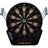 HOMCOM Elektronische Dartscheibe Dartboard Dart-Set mit 6 Darts 24 Dartköpfe 27 Spiele und 243 Trefferoptionen für 16…
