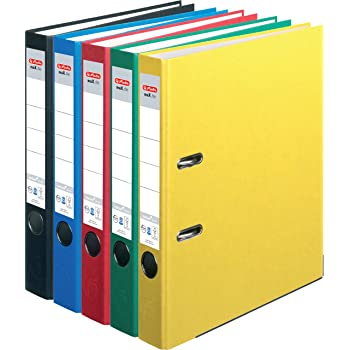 DIN A4 10x Livepac Caribic Glanz-Ordner 75mm breit 10 verschiedene Farben