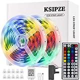 LED Strip Lights, Ksipze 10m RGB LED Light Strip with Remote Colour Changing SMD 5050 LED Room Lights for TV Kitchen…