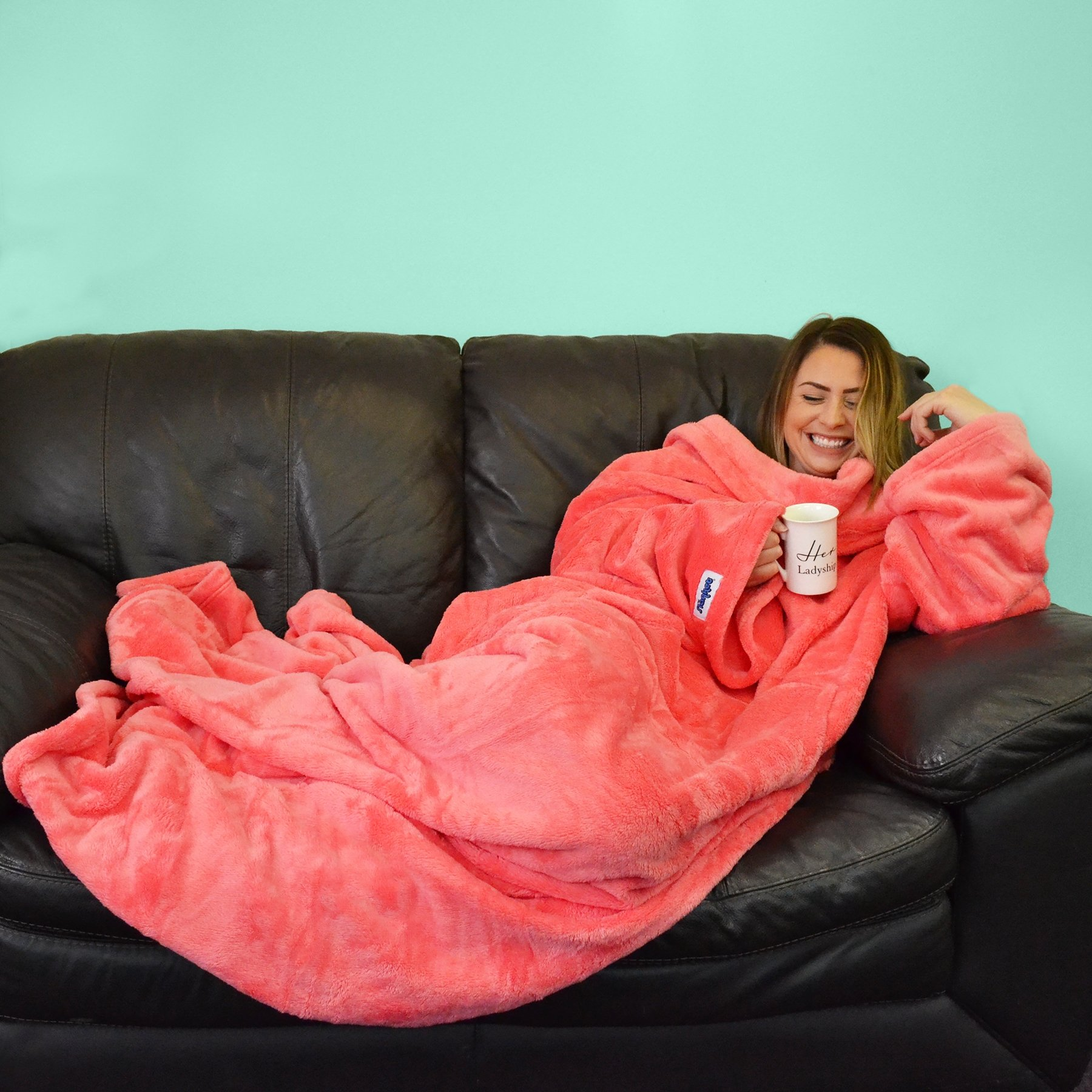 1f5dabc2b4 Sale! Home   At Home   Relax   Slanket Comfy Soft Cosy Sleeved Blankets  with Sleeves