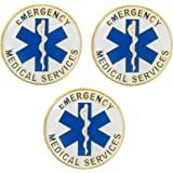 Circular Emergency Medical Services EMS Star of Life - The Rod of Asclepius - Lapel Hat Backpack Pin