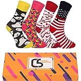 CREA SOCKS Calcetines para hombre y mujer, calcetines divertidos para regalos, calcetines de algodón, regalos para hombres, c