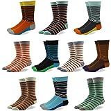 Herrensocken – Businesssocken - Anzugssocken – Mehrfarbig –Gestreift, gepunktet oder kariert - Gekämmte Baumwolle - Modisch – Bunt - 10er Pack – SoxAge