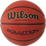 Wilson Indoor-Basketball, Wettkampf, FIBA zugelassen, Sportparkett, Granulat, Linolium- oder PVC-Boden, Solution Game Ball